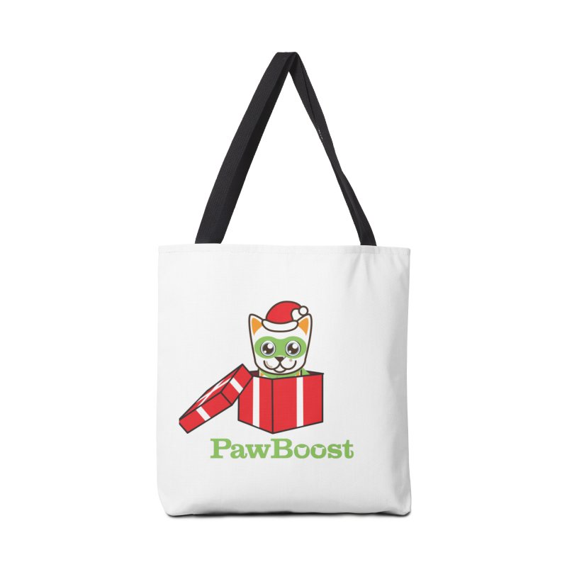 Meowy Christmas! (cat) Accessories Tote Bag Bag by PawBoost's Shop