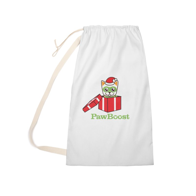 Meowy Christmas! (cat) Accessories Laundry Bag Bag by PawBoost's Shop