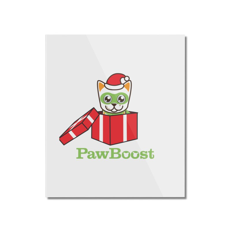 Meowy Christmas! (cat) Home Mounted Acrylic Print by PawBoost's Shop