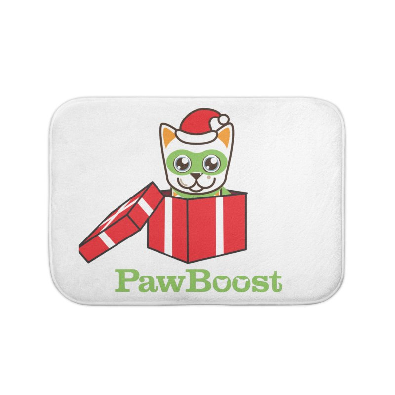 Meowy Christmas! (cat) Home Bath Mat by PawBoost's Shop