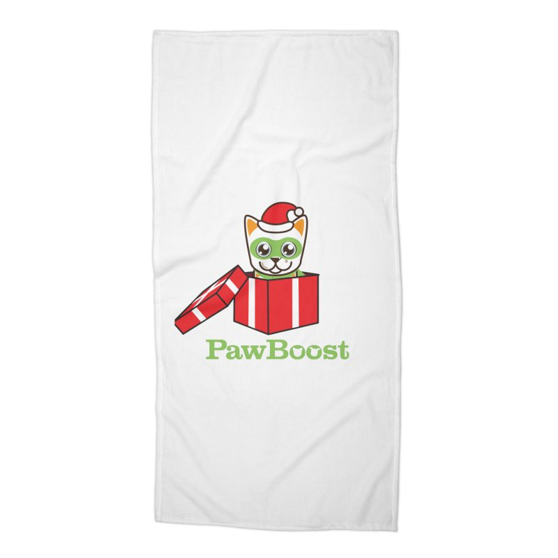 Meowy Christmas! (cat) Accessories Beach Towel by PawBoost's Shop
