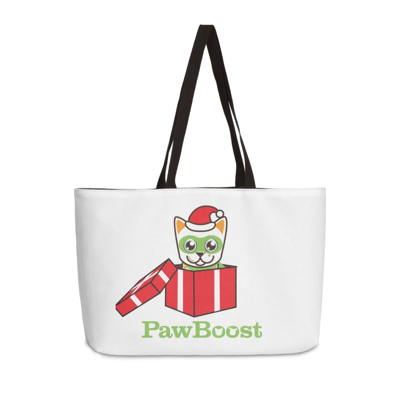 Meowy Christmas! (cat) Accessories Weekender Bag Bag by PawBoost's Shop