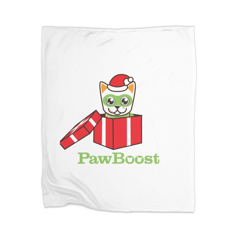 Meowy Christmas! (cat) Home Blanket by PawBoost's Shop