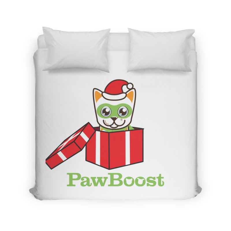 Meowy Christmas! (cat) Home Duvet by PawBoost's Shop