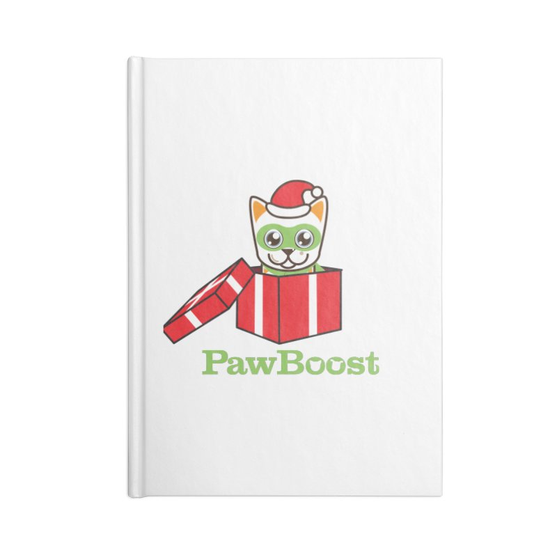 Meowy Christmas! (cat) Accessories Lined Journal Notebook by PawBoost's Shop