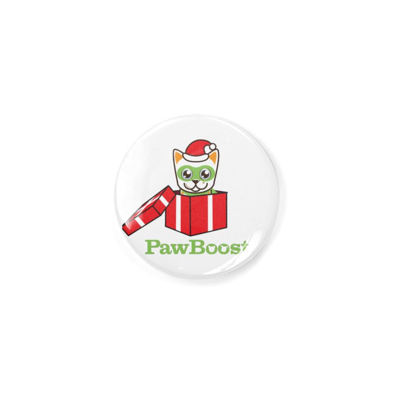 Meowy Christmas! (cat) Accessories Button by PawBoost's Shop