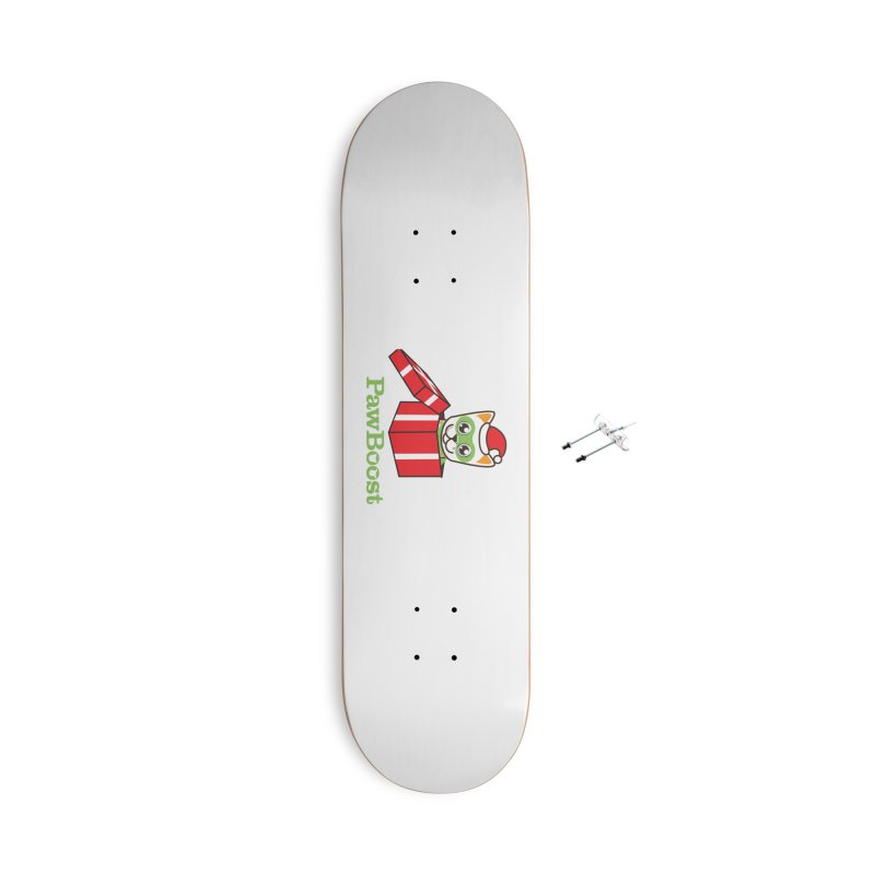 Meowy Christmas! (cat) Accessories With Hanging Hardware Skateboard by PawBoost's Shop