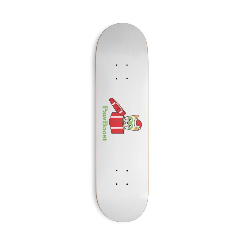 Meowy Christmas! (cat) Accessories Deck Only Skateboard by PawBoost's Shop