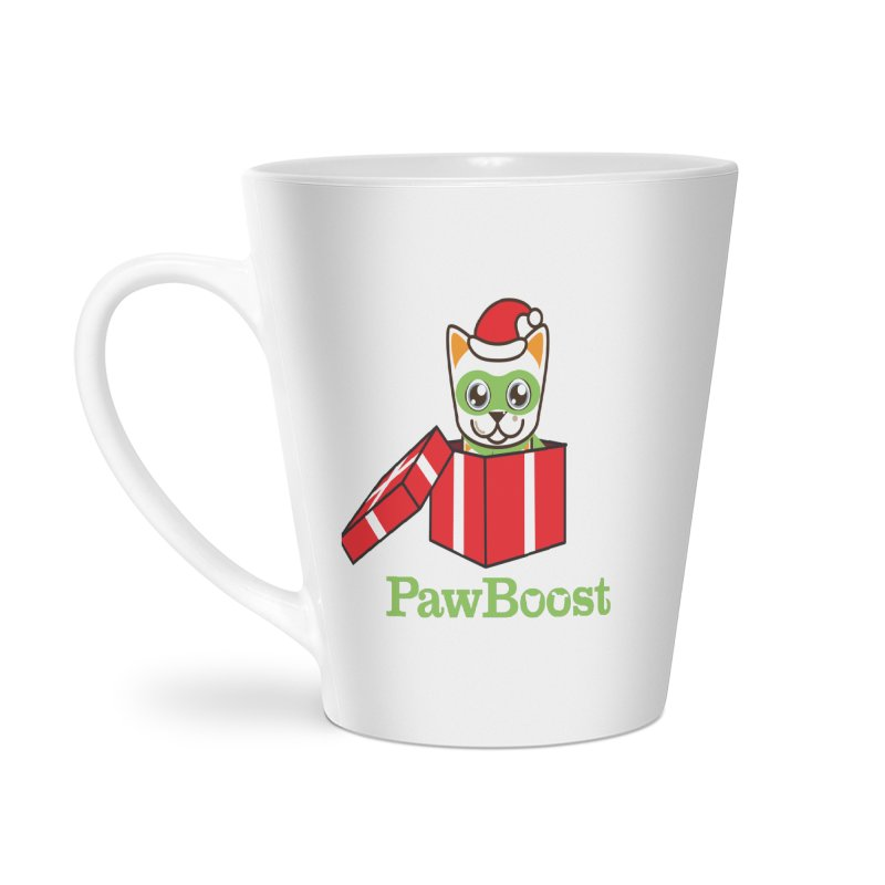 Meowy Christmas! (cat) Accessories Latte Mug by PawBoost's Shop