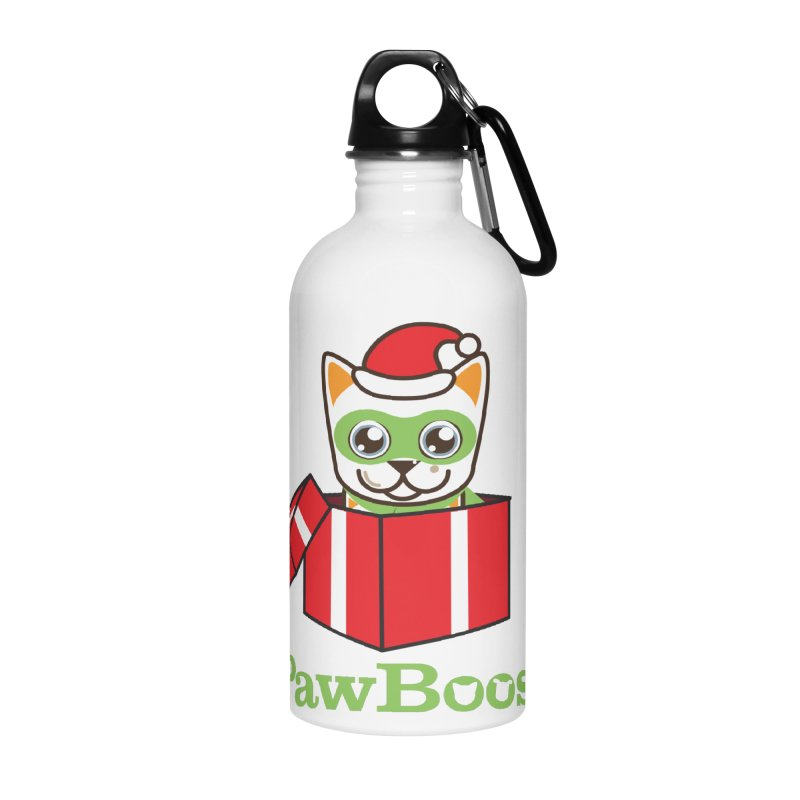 Meowy Christmas! (cat) Accessories Water Bottle by PawBoost's Shop