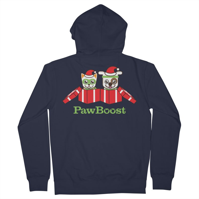Toby & Moby Presents Men's French Terry Zip-Up Hoody by PawBoost's Shop