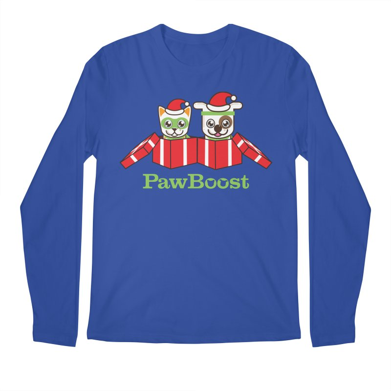 Toby & Moby Presents Men's Regular Longsleeve T-Shirt by PawBoost's Shop