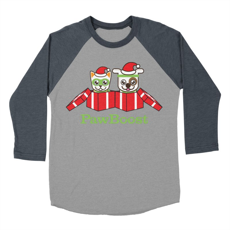 Toby & Moby Presents Women's Baseball Triblend Longsleeve T-Shirt by PawBoost's Shop