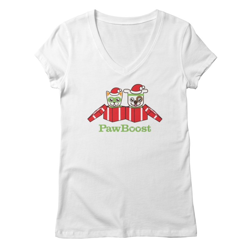 Toby & Moby Presents Women's Regular V-Neck by PawBoost's Shop