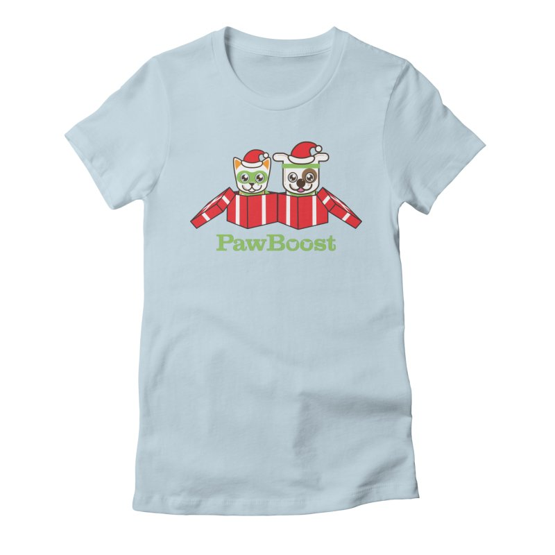 Toby & Moby Presents Women's Fitted T-Shirt by PawBoost's Shop