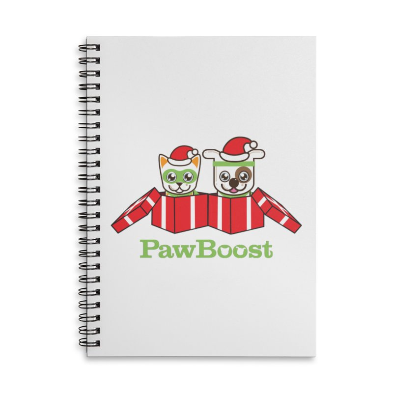 Toby & Moby Presents Accessories Lined Spiral Notebook by PawBoost's Shop