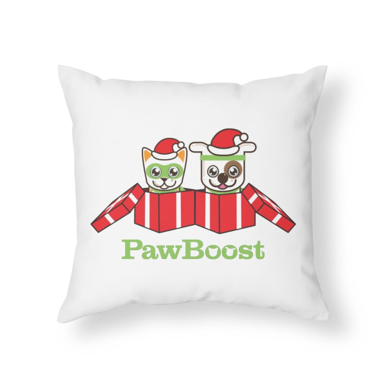 Toby & Moby Presents Home Throw Pillow by PawBoost's Shop