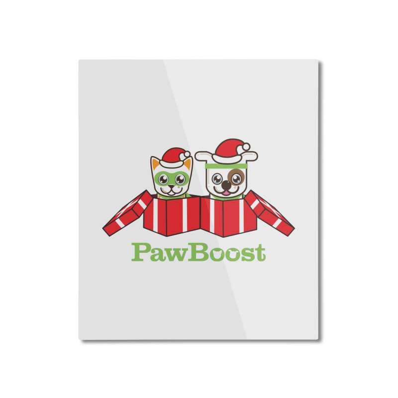 Toby & Moby Presents Home Mounted Aluminum Print by PawBoost's Shop