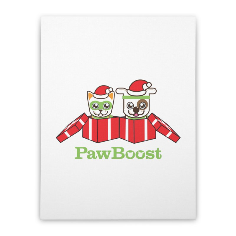 Toby & Moby Presents Home Stretched Canvas by PawBoost's Shop