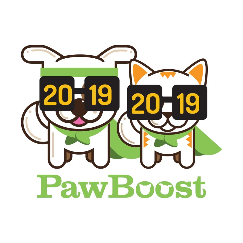 Hello 2019! Home Stretched Canvas by PawBoost's Shop