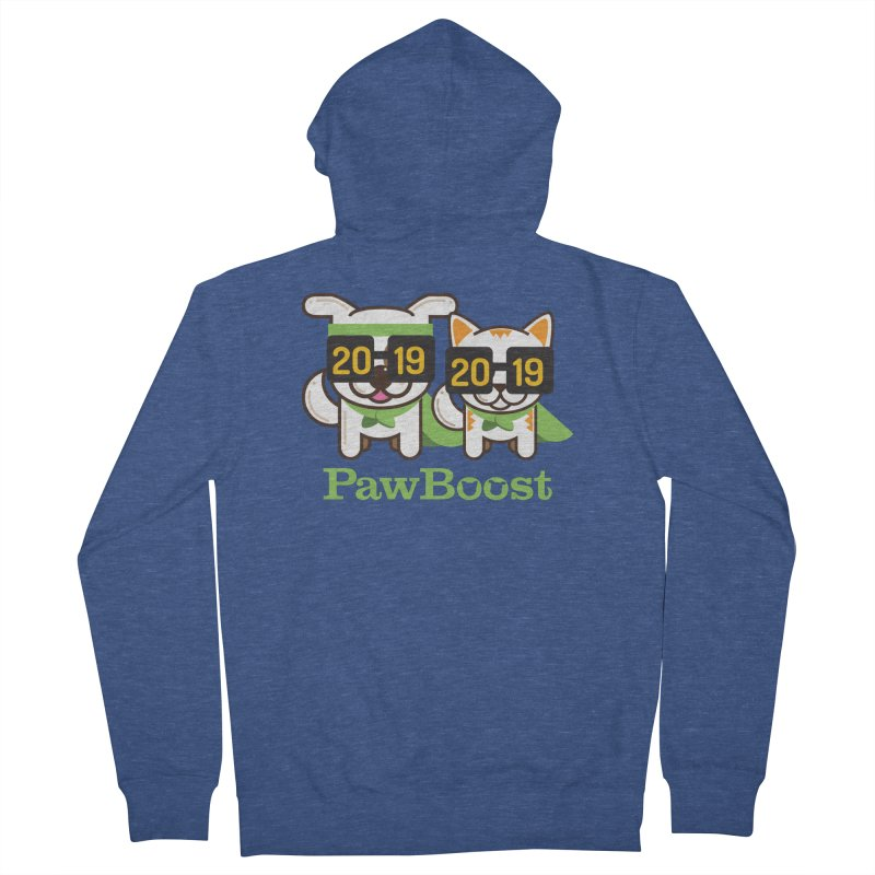 Hello 2019! Men's French Terry Zip-Up Hoody by PawBoost's Shop
