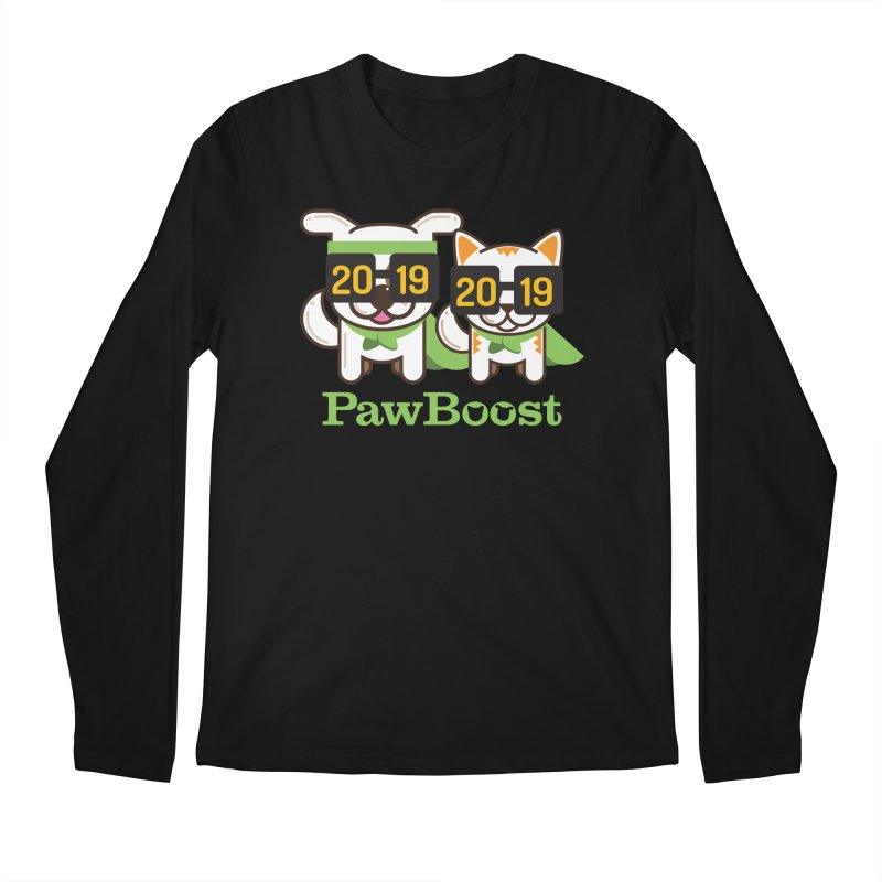 Hello 2019! Men's Regular Longsleeve T-Shirt by PawBoost's Shop