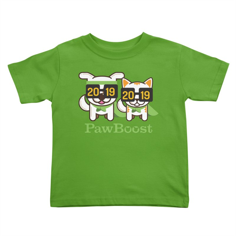 Hello 2019! Kids Toddler T-Shirt by PawBoost's Shop