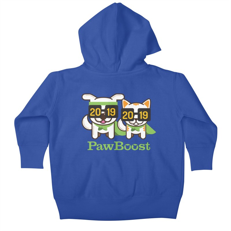 Hello 2019! Kids Baby Zip-Up Hoody by PawBoost's Shop