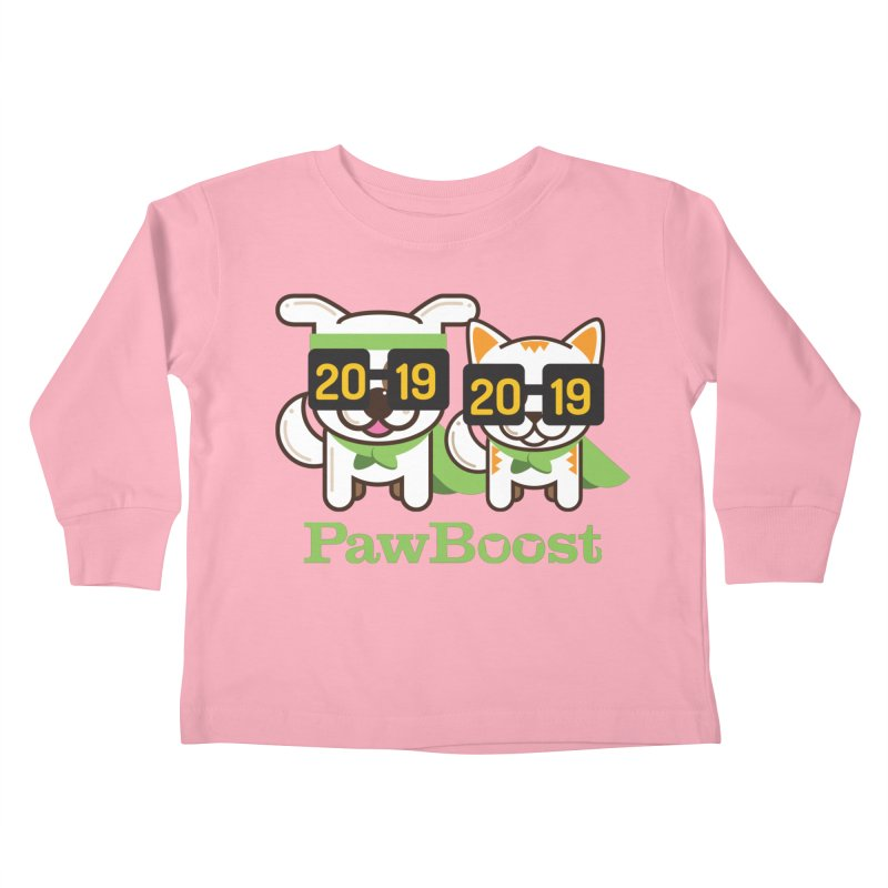 Hello 2019! Kids Toddler Longsleeve T-Shirt by PawBoost's Shop
