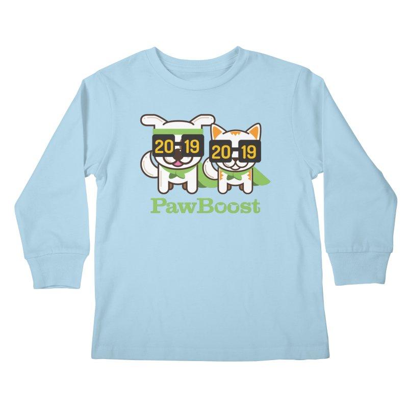 Hello 2019! Kids Longsleeve T-Shirt by PawBoost's Shop
