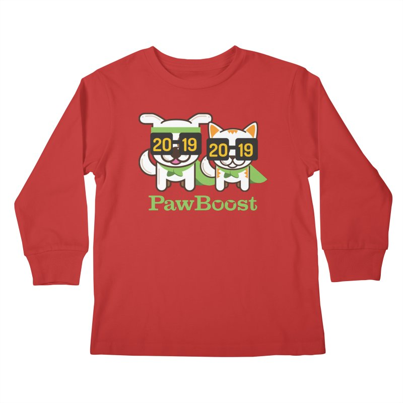 Hello 2019! Kids Longsleeve T-Shirt by PawBoost's Shop