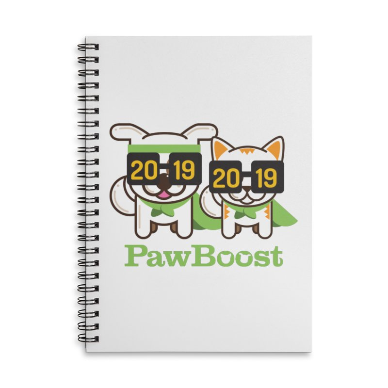 Hello 2019! Accessories Lined Spiral Notebook by PawBoost's Shop