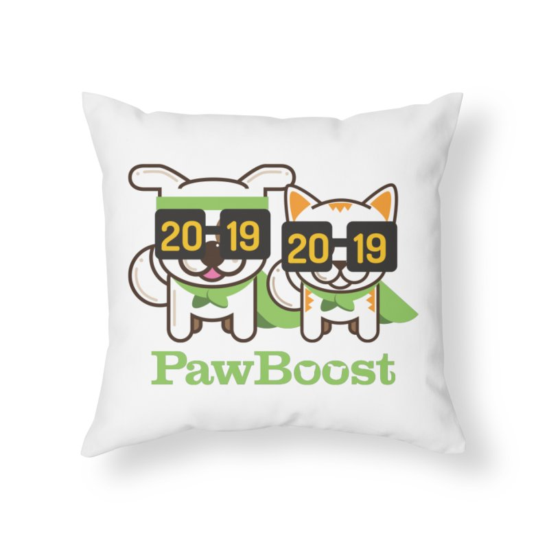 Hello 2019! Home Throw Pillow by PawBoost's Shop