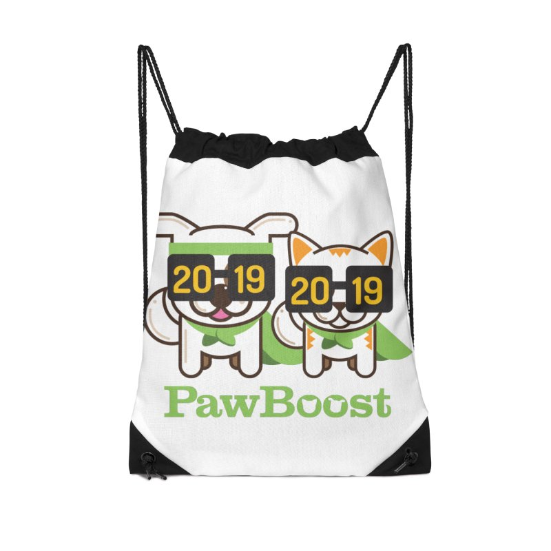 Hello 2019! Accessories Drawstring Bag Bag by PawBoost's Shop