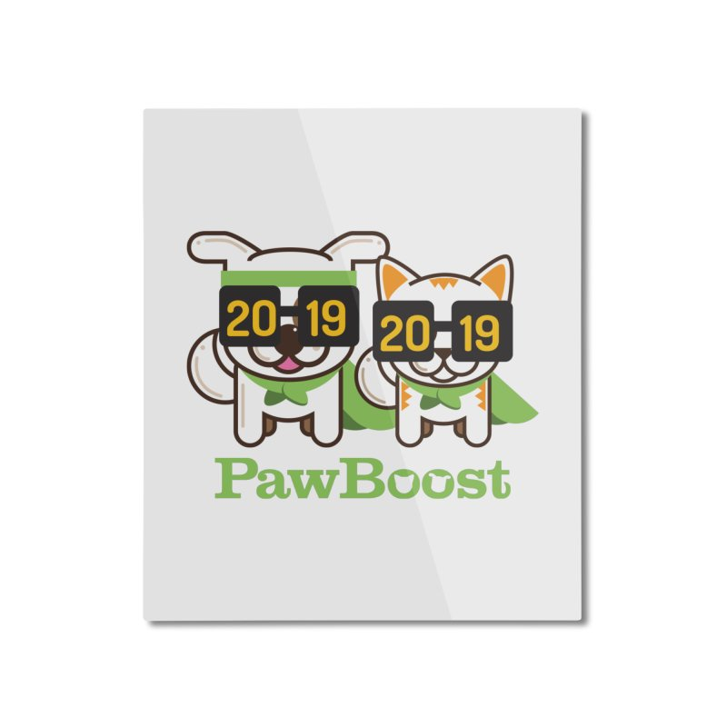 Hello 2019! Home Mounted Aluminum Print by PawBoost's Shop