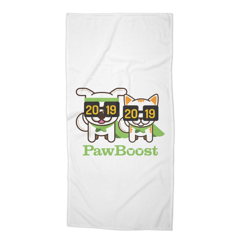 Hello 2019! Accessories Beach Towel by PawBoost's Shop