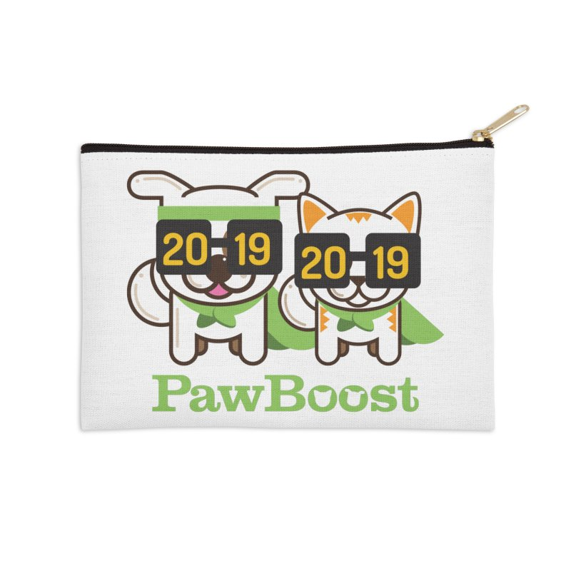 Hello 2019! Accessories Zip Pouch by PawBoost's Shop