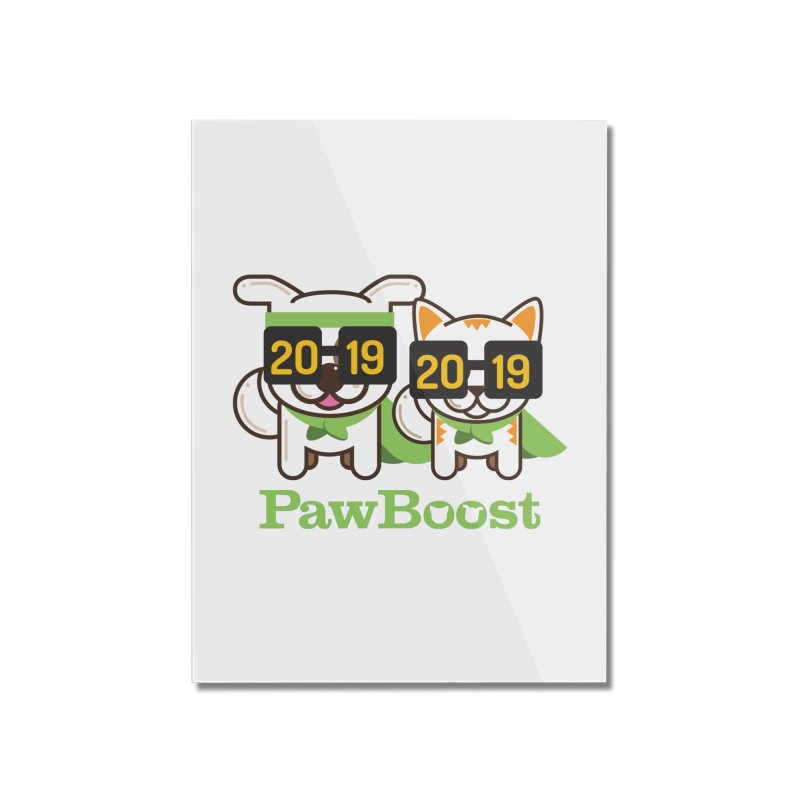 Hello 2019! Home Mounted Acrylic Print by PawBoost's Shop