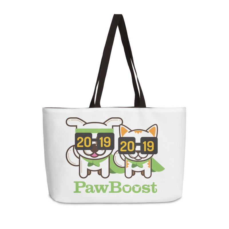 Hello 2019! Accessories Weekender Bag Bag by PawBoost's Shop