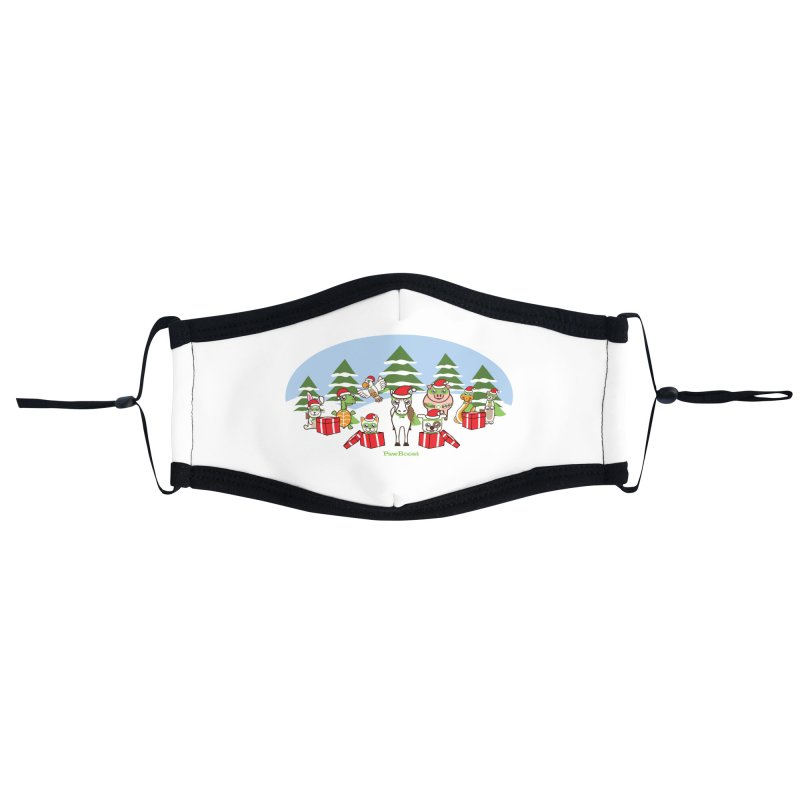 Rescue Squad Presents (winter wonderland) Accessories Face Mask by PawBoost's Shop