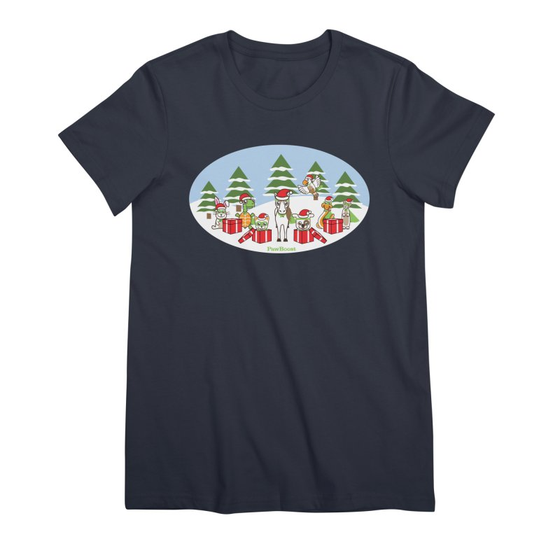 Rescue Squad Presents (winter wonderland) Women's Premium T-Shirt by PawBoost's Shop