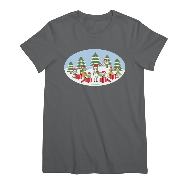 Rescue Squad Presents (winter wonderland) Women's Premium T-Shirt by PawBoost's Shop
