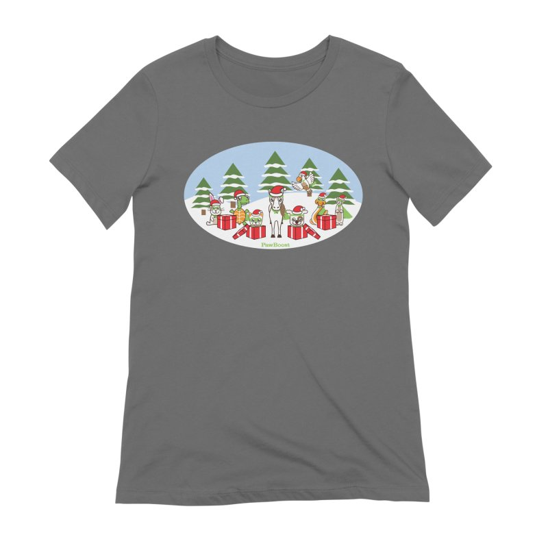 Rescue Squad Presents (winter wonderland) Women's Extra Soft T-Shirt by PawBoost's Shop