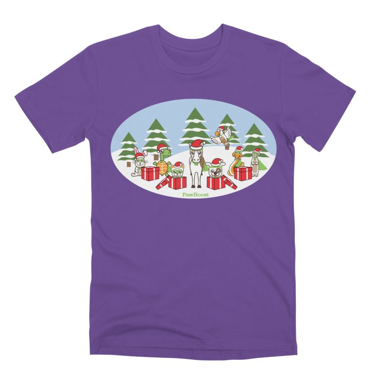 Rescue Squad Presents (winter wonderland) Men's Premium T-Shirt by PawBoost's Shop