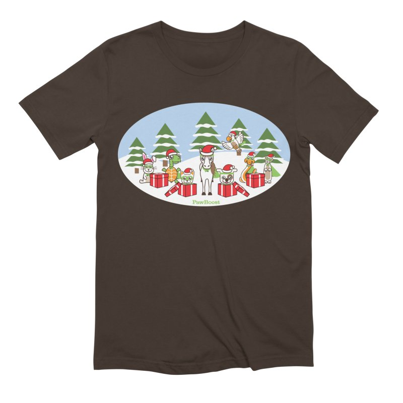 Rescue Squad Presents (winter wonderland) Men's Extra Soft T-Shirt by PawBoost's Shop