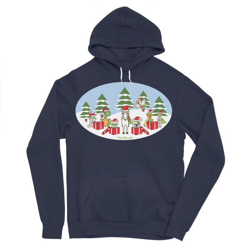 Rescue Squad Presents (winter wonderland) Women's Sponge Fleece Pullover Hoody by PawBoost's Shop