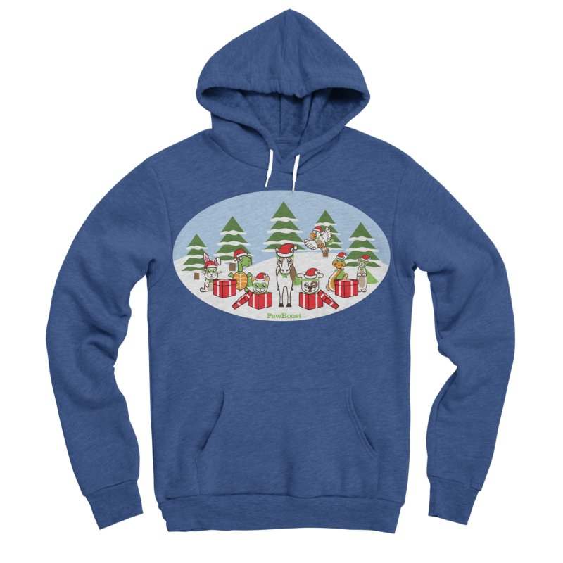 Rescue Squad Presents (winter wonderland) Men's Sponge Fleece Pullover Hoody by PawBoost's Shop