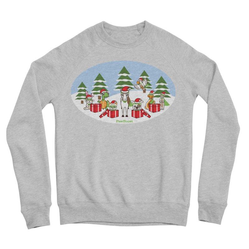 Rescue Squad Presents (winter wonderland) Women's Sponge Fleece Sweatshirt by PawBoost's Shop