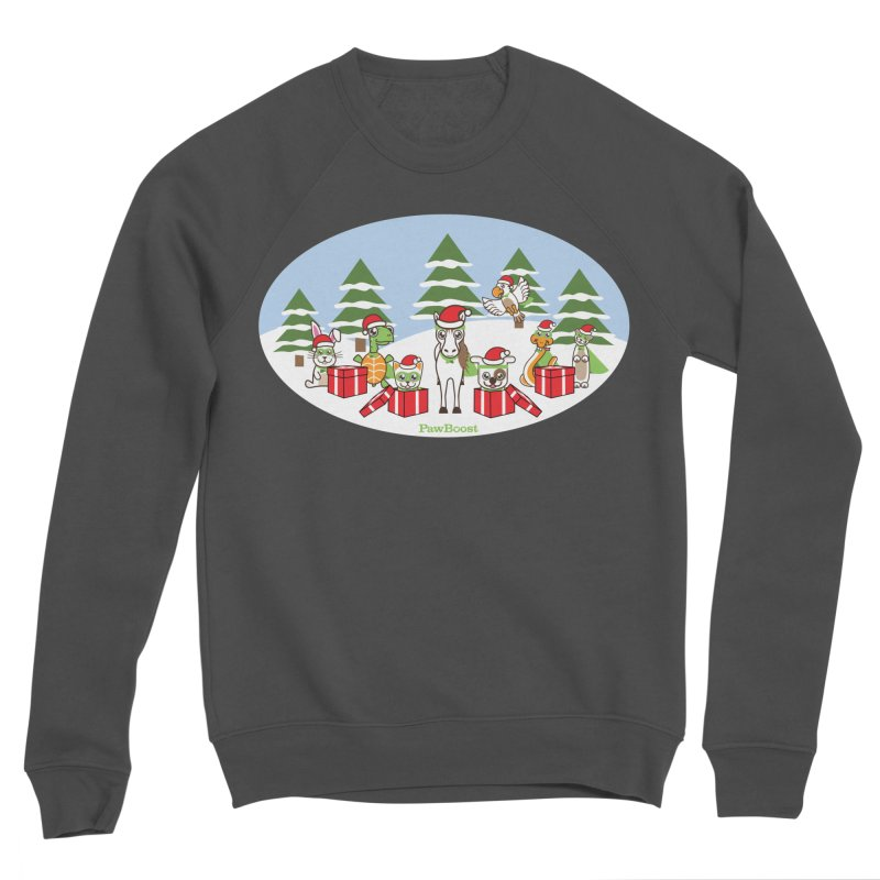 Rescue Squad Presents (winter wonderland) Women's Sponge Fleece Sweatshirt by PawBoost's Shop