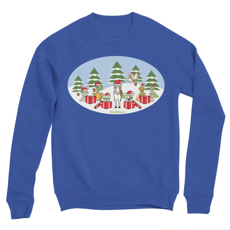 Rescue Squad Presents (winter wonderland) Men's Sponge Fleece Sweatshirt by PawBoost's Shop